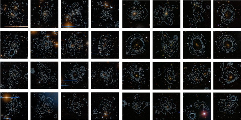 A selection of clusters from the first XCS data release (Mehrtens et al. 2012)